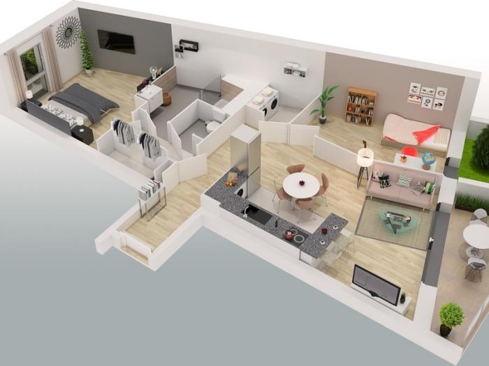 Appartements neufs Sucé-sur-Erdre référence 5372 : aperçu n°2