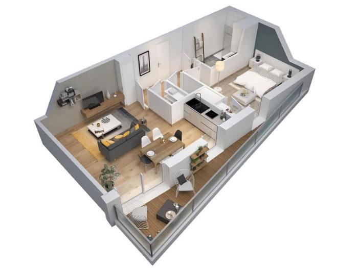 Appartements neufs Orvault référence 4125 : aperçu n°1