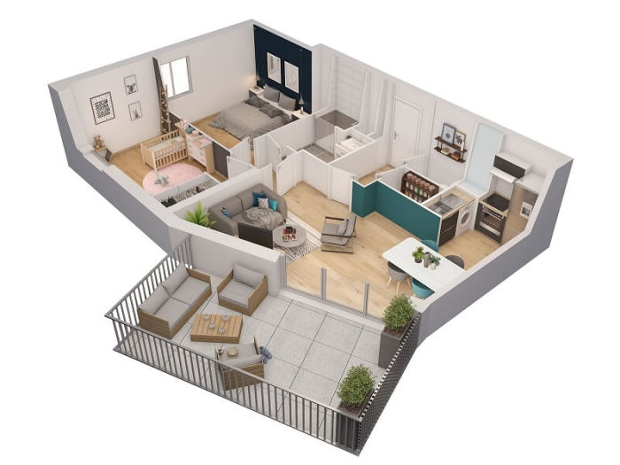 Appartements neufs Orvault référence 4125 : aperçu n°2