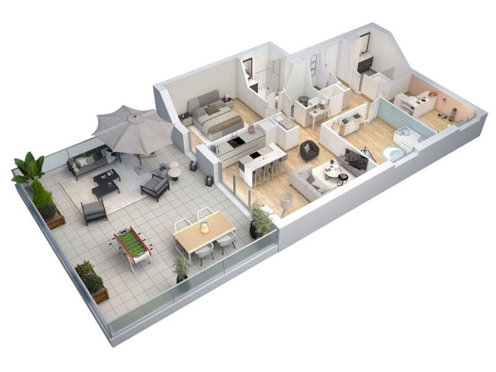 Appartements neufs Orvault référence 4125 : aperçu n°3