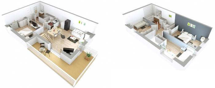 Appartements neufs Erdre référence 4329 : aperçu n°3