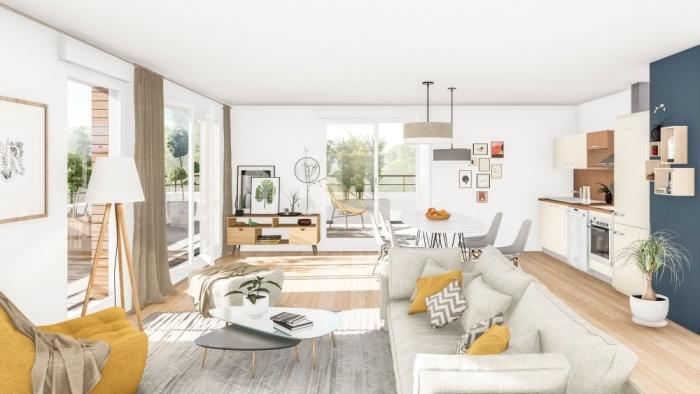 Appartements neufs Les Sorinières référence 4371 : aperçu n°1