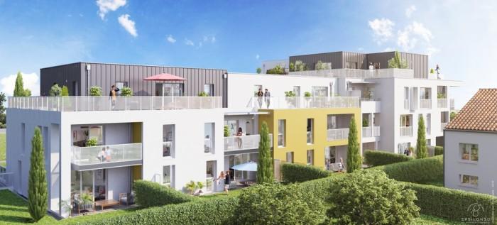Appartements neufs Les Sorinières référence 4702 : aperçu n°2