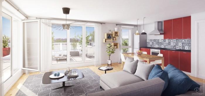 Appartements neufs Les Sorinières référence 4702 : aperçu n°1
