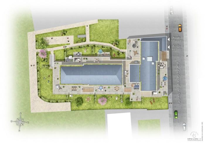 Appartements neufs Les Sorinières référence 4702 : aperçu n°3