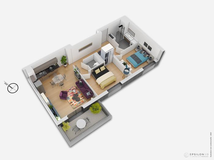 Appartements neufs Saint-Herblain référence 4889 : aperçu n°1