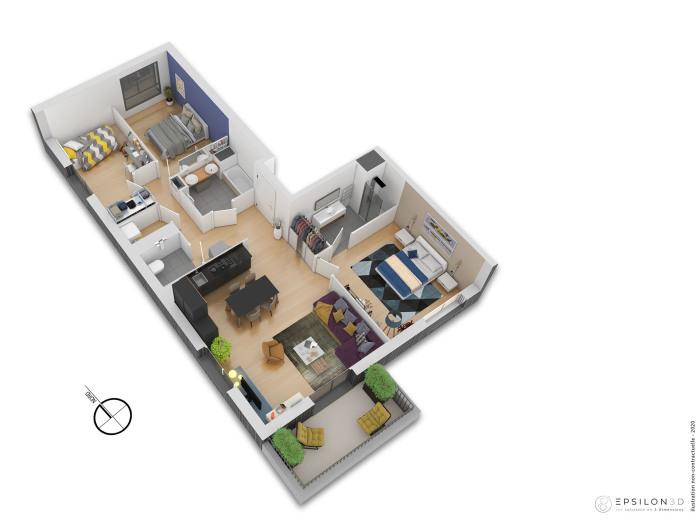 Appartements neufs Saint-Herblain référence 4889 : aperçu n°2