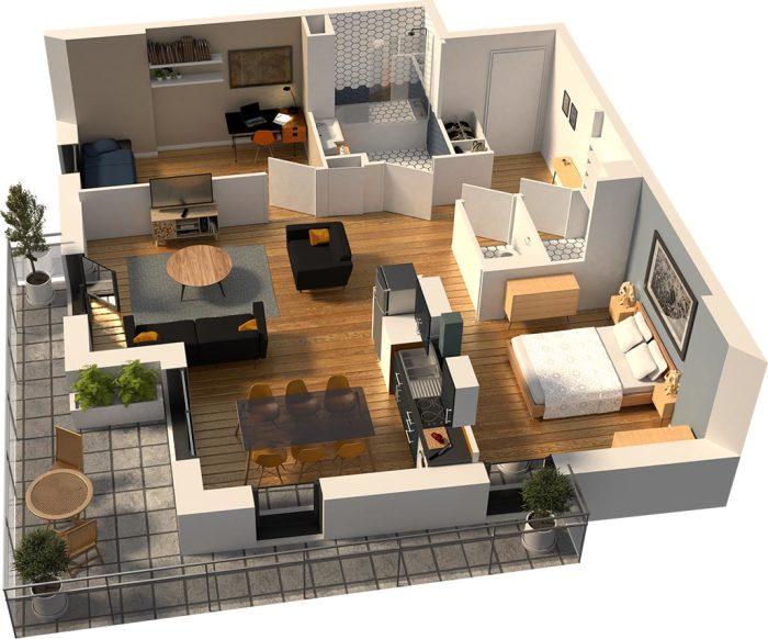 Appartements neufs Hauts pavés Saint-Félix référence 5218 : aperçu n°2