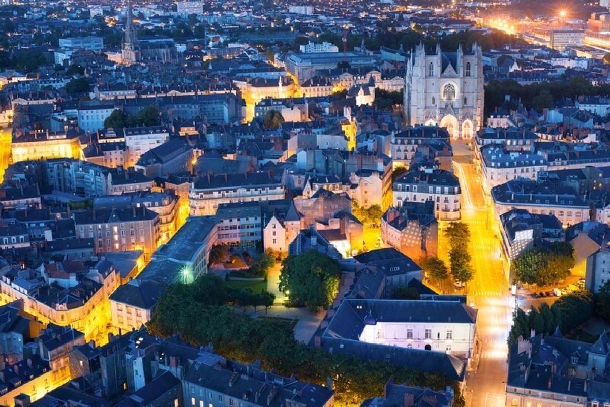 Prolongation de la loi Pinel à Nantes - Vue aérienne du centre-ville nantais