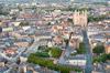 nantes et sa cathédrale vue du ciel