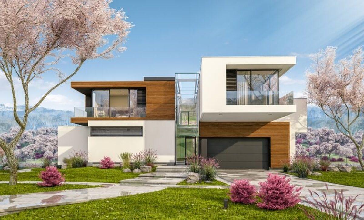 Une maison neuve au printemps