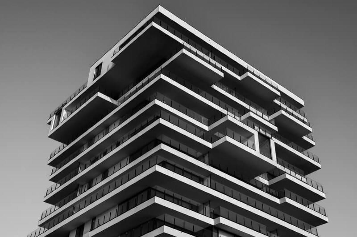 batiment immeuble logement beton 3D