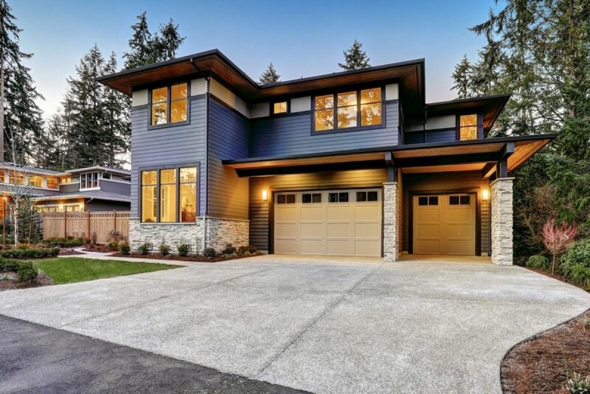 maison moderne garage