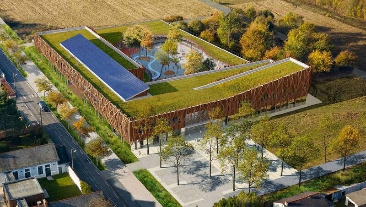 Le toit végétal de la nouvelle école du quartier Doulon-Gohards, prévue pour 2022