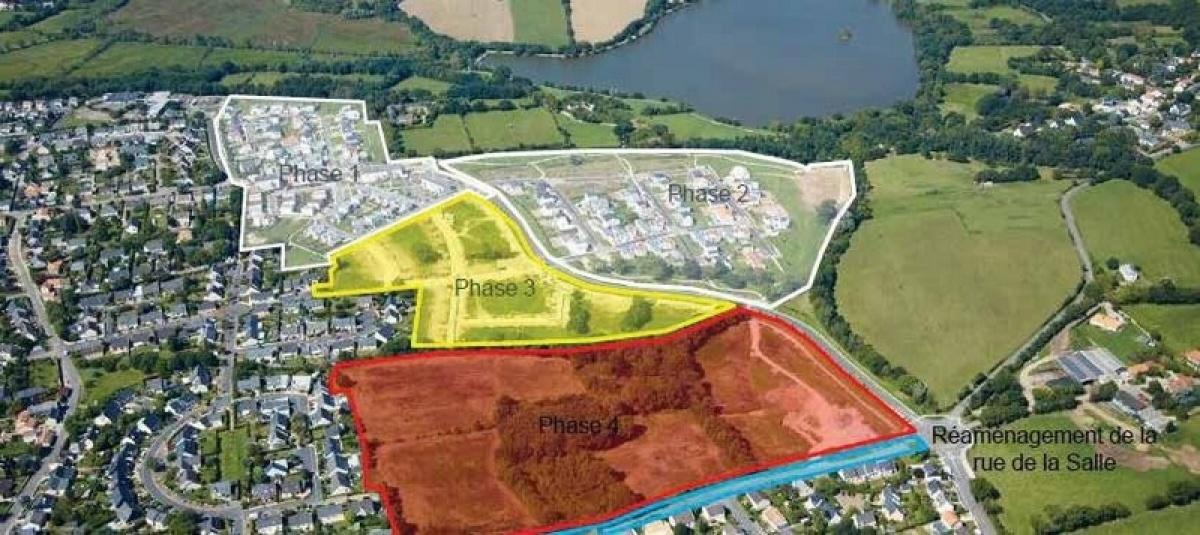 Les 4 phases d'aménagement de la ZAC de la Métairie
