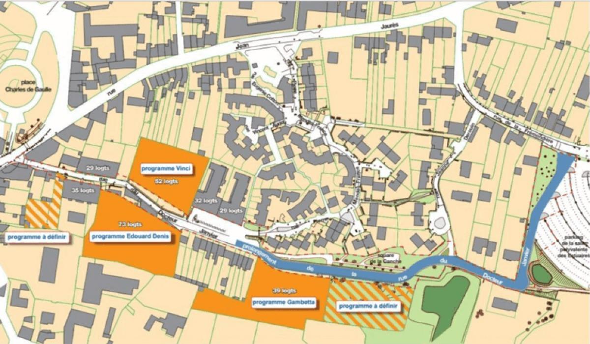 Programmes de logements et d'aménagements rue du Docteur Janvier