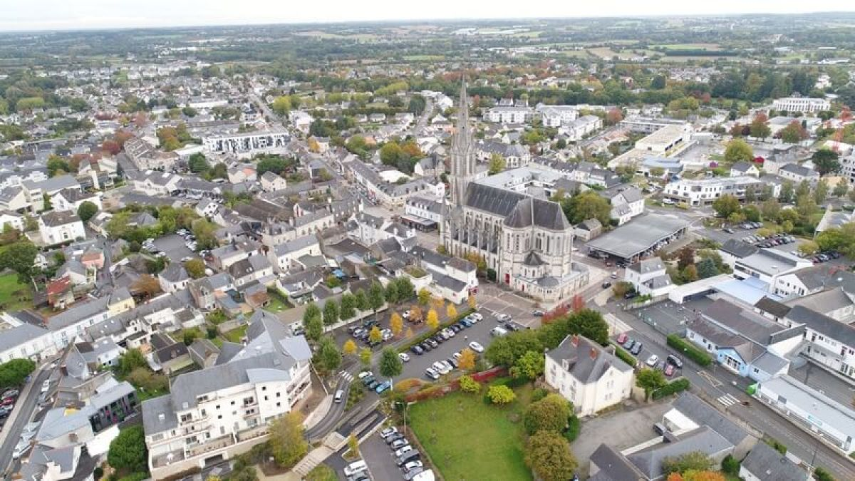 vue aérienne de Carquefou