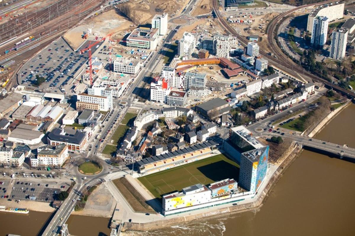 vue aérienne sur le quartier euronantes