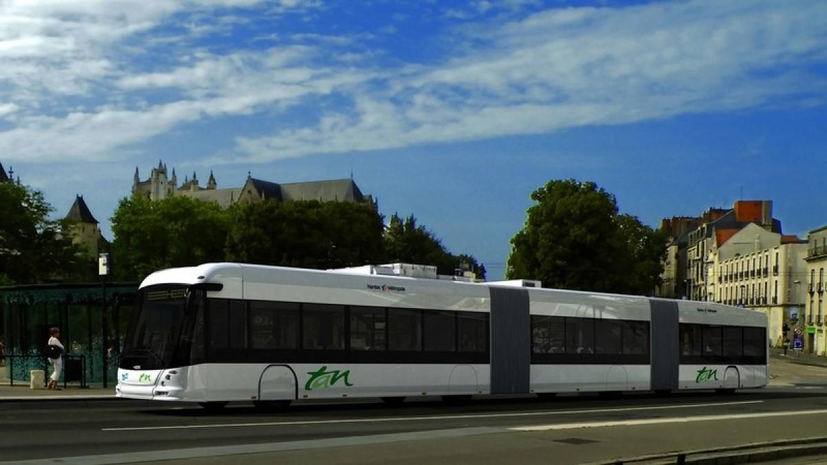 Voici les nouveaux E-busway de la ville de Nantes