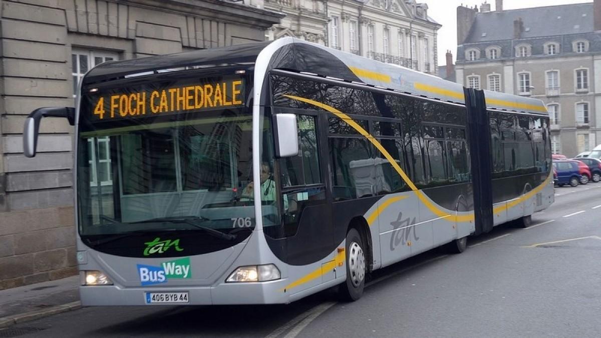 Les actuels busways de Nantes
