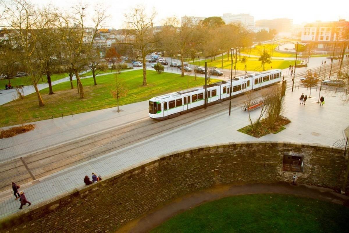 Nantes les transports vus de haut