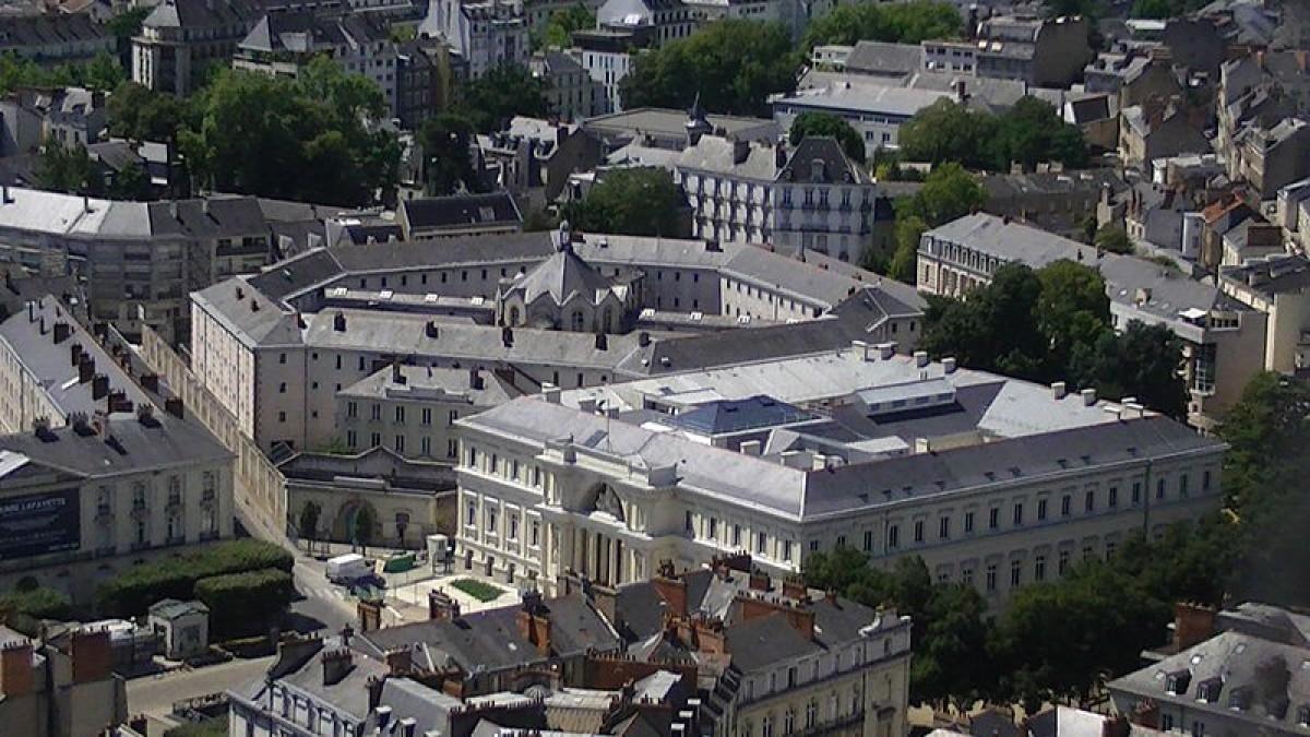 La maison d'arrêt et l'ancien Palais de justice place Aristide-Briand Nantes