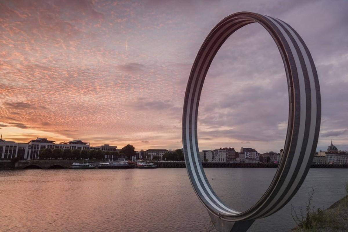 Nantes vue depuis un anneau