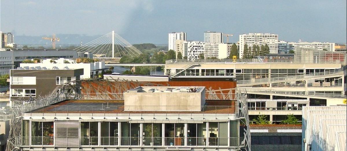 Nantes vue du quartier de la création