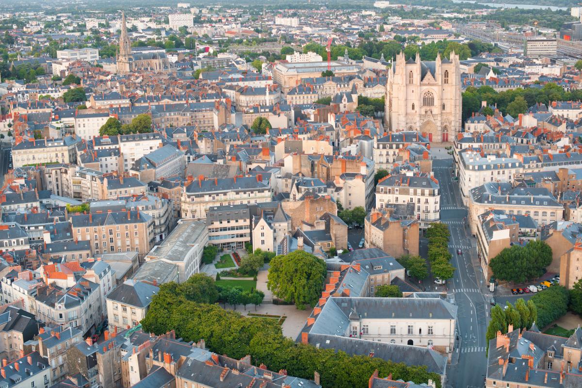 Zone loi Pinel Nantes - Vue aérienne de Nantes