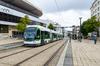 Le tramway à Nantes à la station Bretagne