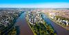 La ville de Nantes et les branches de la Loire la traversant