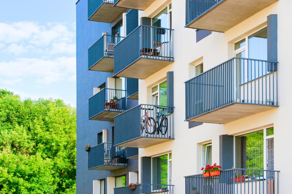 Développement durable à Nantes - Une résidence neuve avec des appartements et des balcons