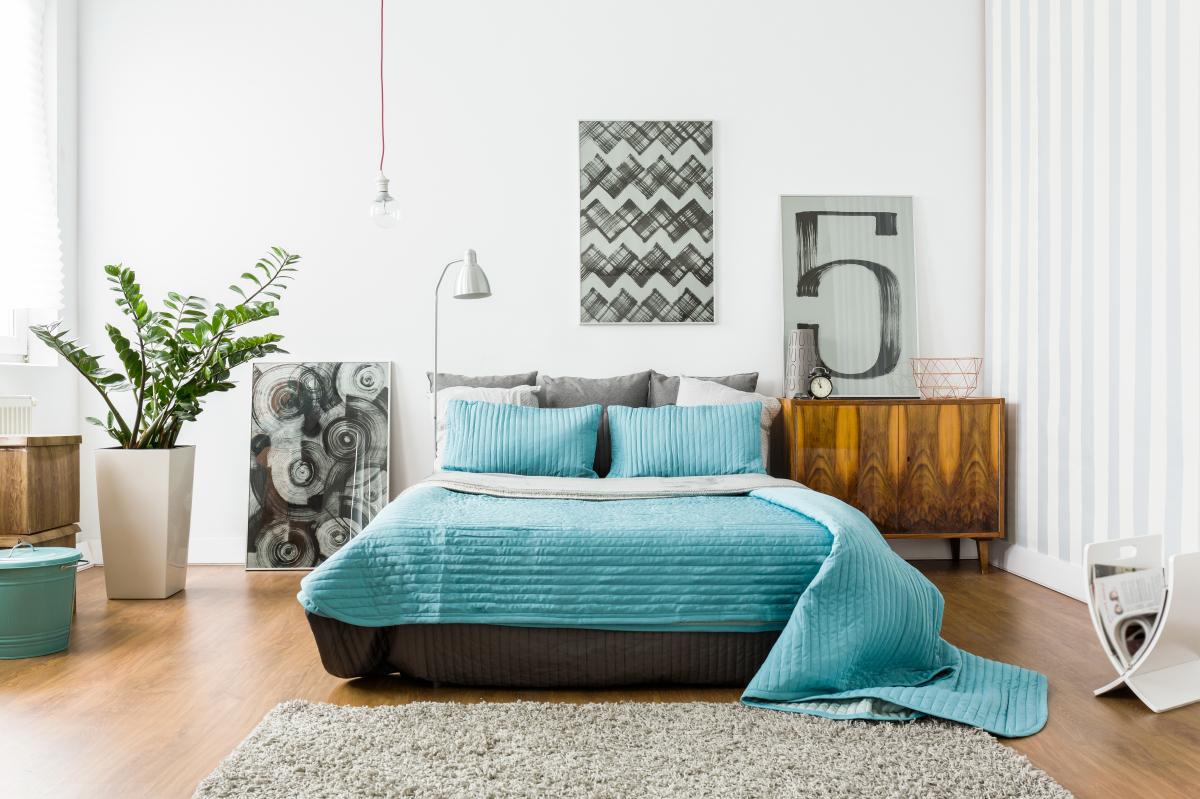 Développement durable à Nantes - Une chambre décorée avec goût