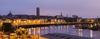 immobilier nantes centre ville - panorama de la ville de Nantes au lever du soleil