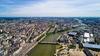 Vue aérienne de Nantes et de la Loire