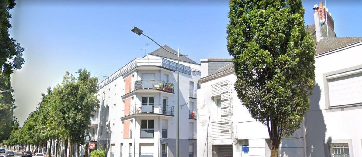 Immobilier neuf à Longchamp-Rond-Point-de-Vannes - vue sur le boulevard Robert Schuman à Nantes
