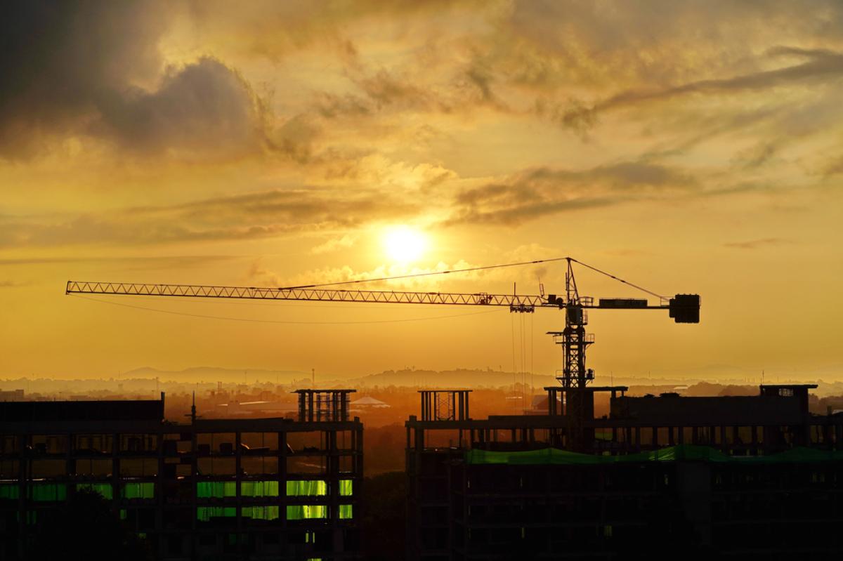 Quartier République à Nantes – un nouveau CHU en construction sur l'Île-de-Nantes