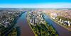 Quartier République à Nantes – vue aérienne sur l'Île de Nantes