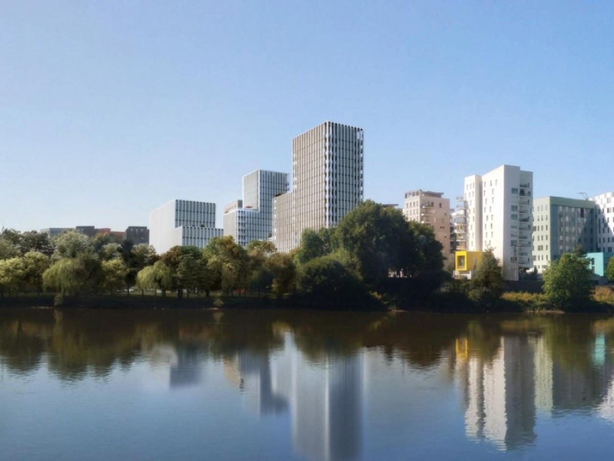 Les grands projets d'architecture à Nantes – vue sur le projet Skyhome sur l'Île de Nantes