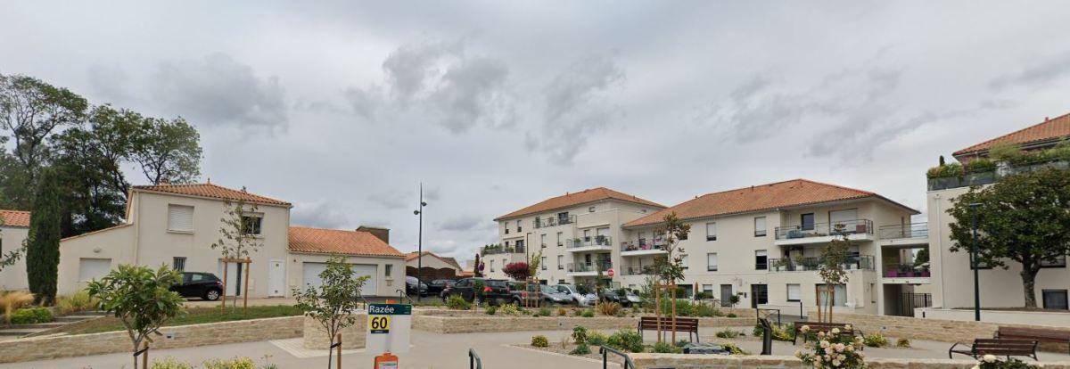 Vue sur le centre-ville de Basse-Goulaine