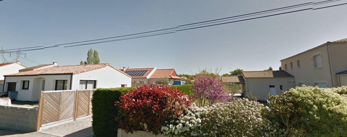 Vue sur un quartier résidentiel de Basse-Goulaine Sud