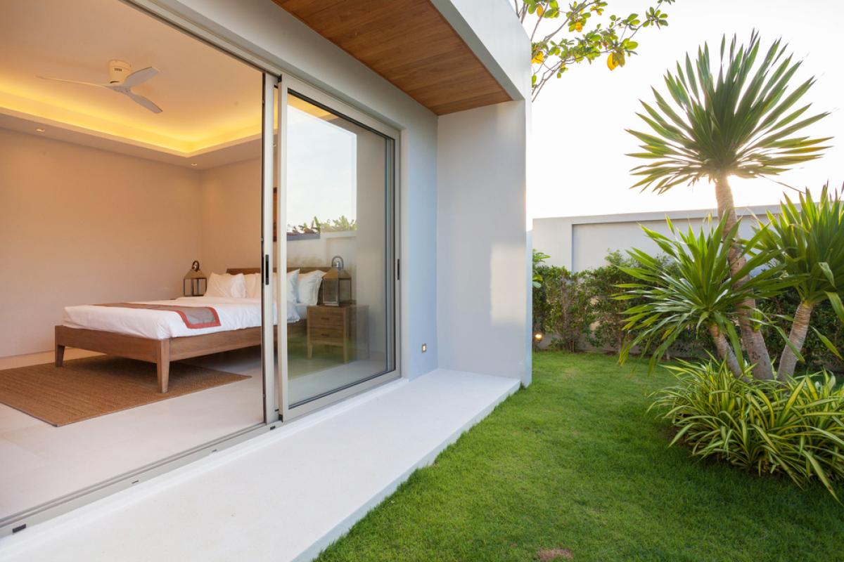Maison neuve à Nantes – vue l'espace extérieur d'une maison moderne