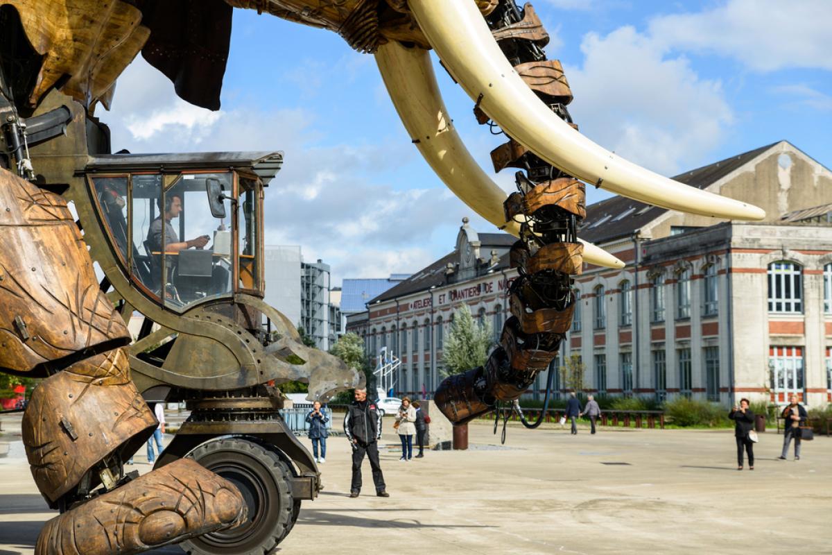 Appartements neufs Nantes - où acheter son appartement à Nantes ? - Vue sur le célèbre Éléphant de l'île de Nantes