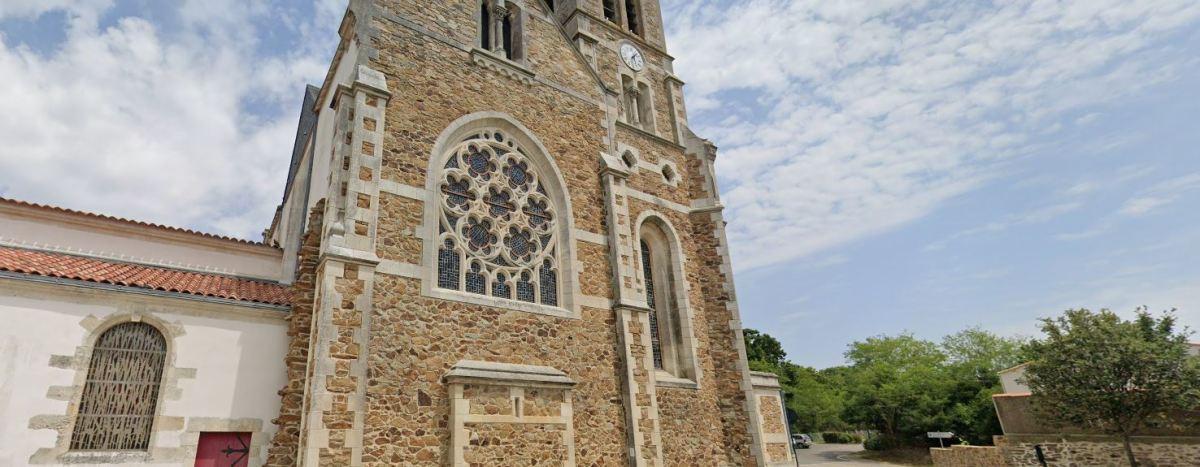 Immobilier neuf à Château-d'Olonne - vue sur l'église Saint-Hilaire
