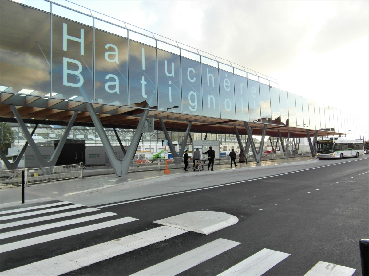 Batignolles Nantes – vue sur la Gare de Haluchère-Batignolles, côté nord