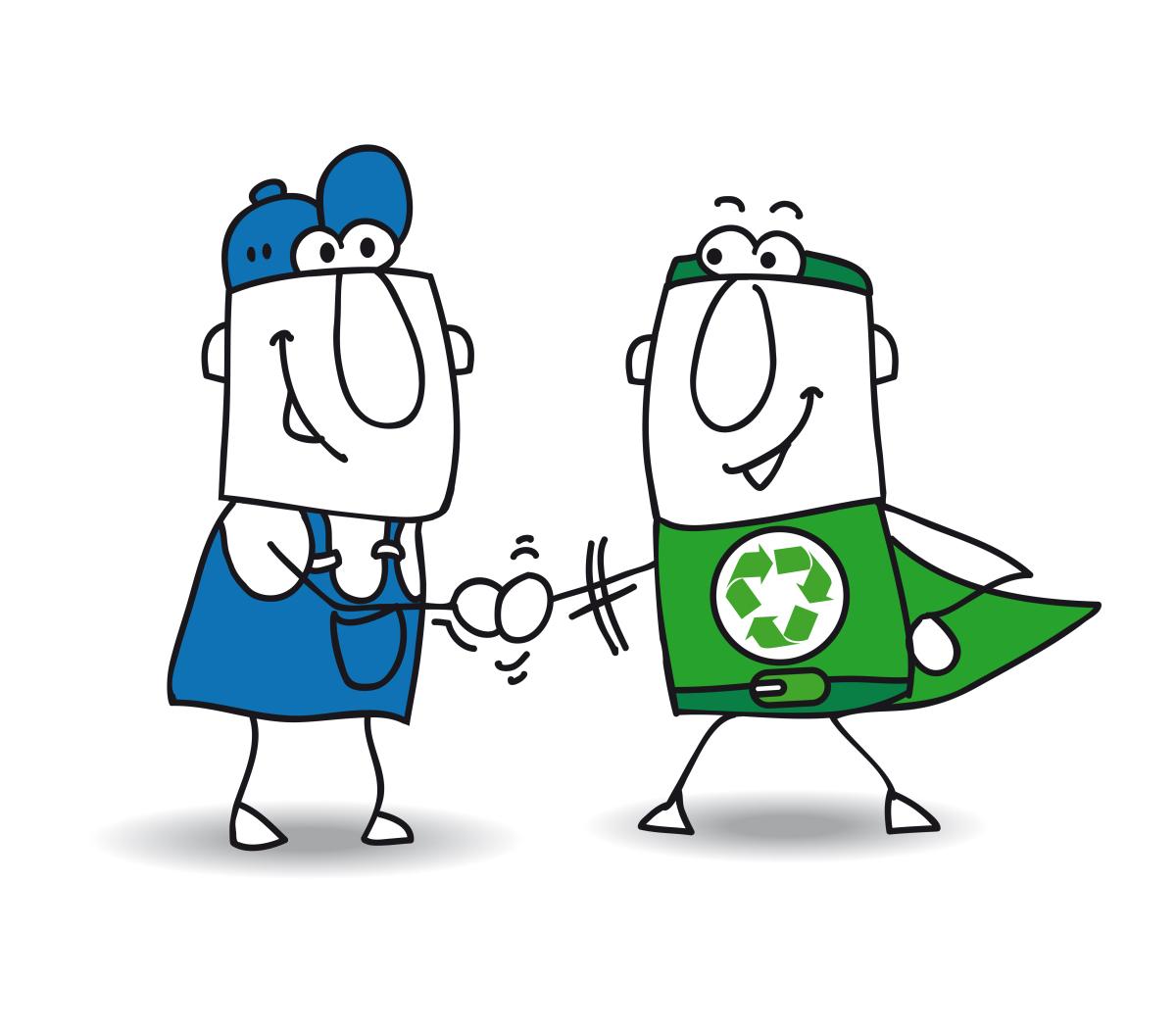 Super monsieur du bâtiment et super monsieur écolo se tapent dans la main – Aide à la transition énergétique