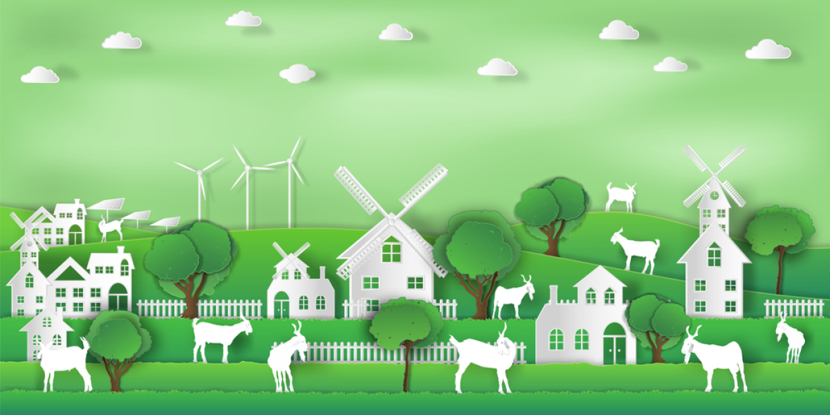 Immobilier écologique – illustration du concept de ville verte