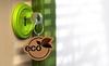 Immobilier écologique – porte clé avec un logo eco