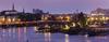 Vue sur Nantes au lever du soleil