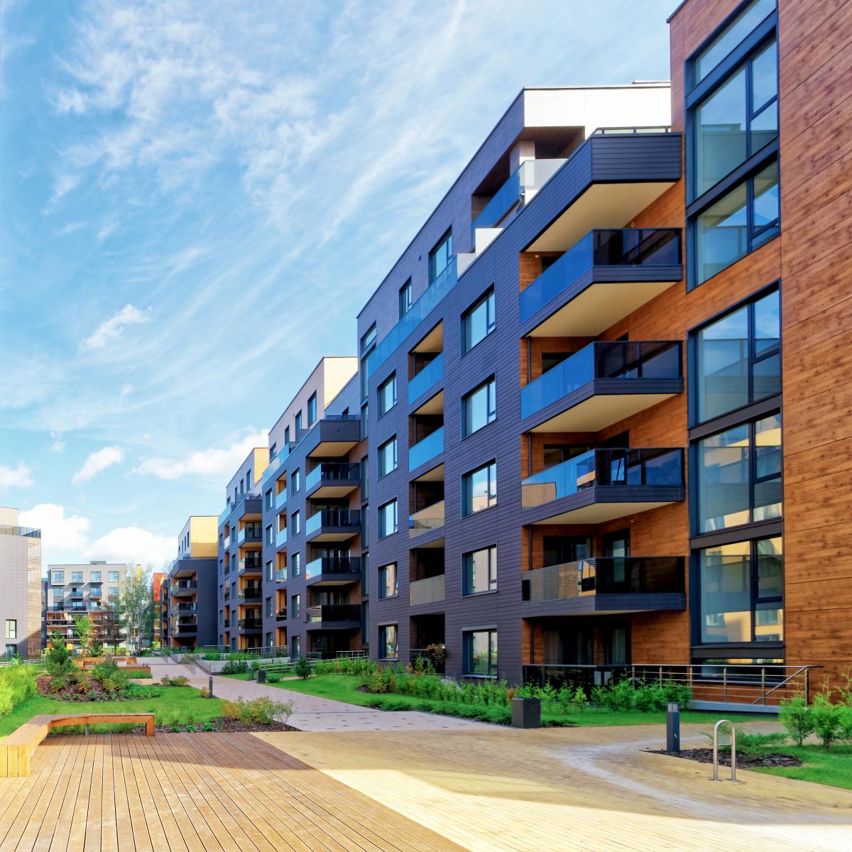 Défiscaliser à Nantes - Résidence neuve et immeubles avec façades en bois